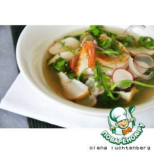 Рецепт: Весенний суп-салат