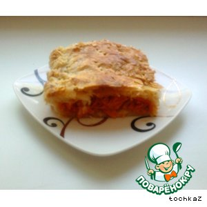 Рецепт: Хрустящий пирог с морковью