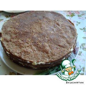 Рецепт: Печеночный торт Любимый