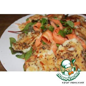 Рецепт Салат с жареным сыром