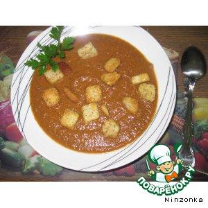 Рецепт: Томатный суп-пюре с грибами