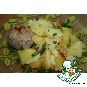 Meatballs with potatoes in a slow cooker