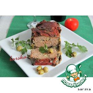 """Рецепт: Террин в виноградных листьях и в томатном соке или """"Ленивая"""" долма"""
