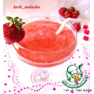 Strawberry cocktail for adults