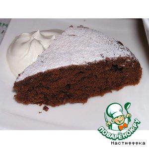 Рецепт: Шоколадный пирог в микроволновке
