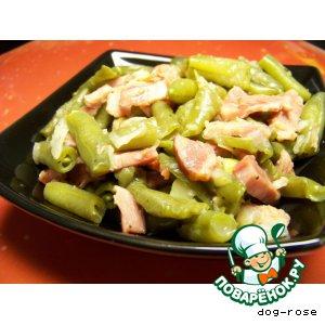 Рецепт: Зеленая фасоль с ветчиной