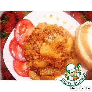 Рецепт: Рыбное жаркое в томате
