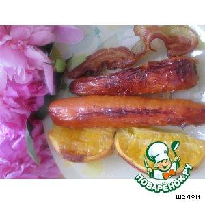 Рецепт: Морковь, запеченная с беконом и апельсином