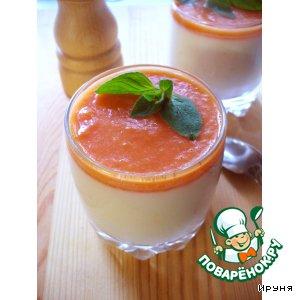 Рецепт: Овощная панна котта с сыром и томатном соусом