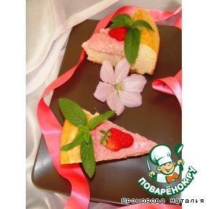 Рецепт Пирог с творожно-клубничной начинкой из быстрого дрожжевого теста