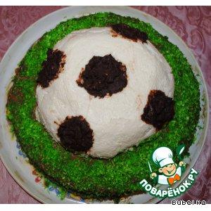 """Рецепт: Торт для любимых мужчин """"УЕФА"""""""