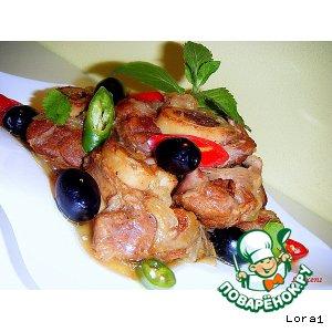 Рецепт: Голяшки из говядины, тушeнные в соусе