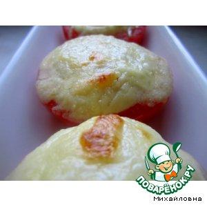 Рецепт: Помидоры с суфле из сыра