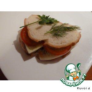 "Рецепт Бутерброд с курицей ""Вечерний каприз"""