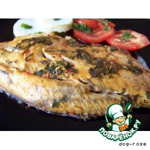 Рецепт: Рыба в апельсиновом маринаде