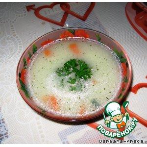 Рецепт: Наваристый супчик с овсянкой