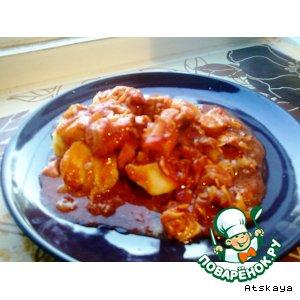 Рецепт: Филе судака в томатном соусе