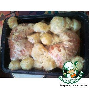 Рецепт: Окорочка с картофелем Сырное искушение