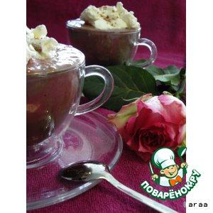 Рецепт: Шоколад с мороженым и малиной