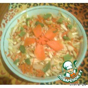 Рецепт: Салат с сельдерем, морковью и кабачками