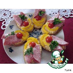 Рецепт: Радужные бутерброды