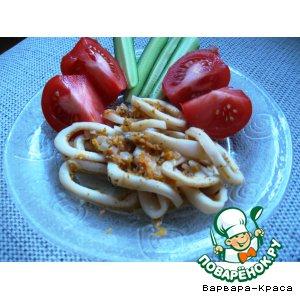 Рецепт: Кальмары с сыром Дор Блю