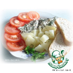Steam mackerel with potatoes