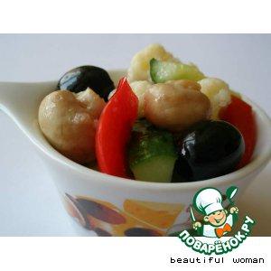 Рецепт: Овощной салат в маринаде
