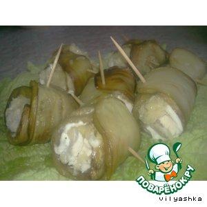 Рецепт: Рулетики из баклажанов