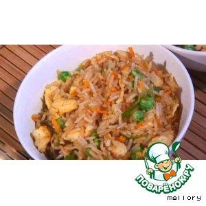 Рецепт: Жареный рис с яйцом