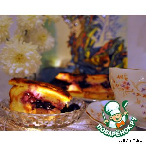 Рецепт: Хлебный пудинг с черникой и порто
