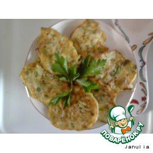 Рецепт: Очередные кабачковые оладьи
