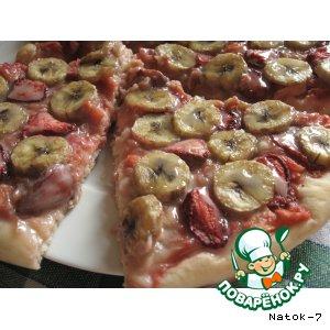 Рецепт: Фруктово-ягодная пицца