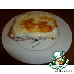 Рецепт: Пирог с вишней и сливочным сыром Маскарпоне