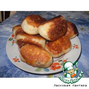 Рецепт: Дрожжевые пирожки Ягодное ассорти
