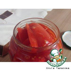 Рецепт: Перчик в томатном соке
