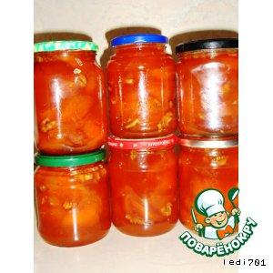 Рецепт: Абрикосовое варенье с грецкими орехами