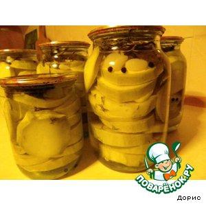 Кабачки, консервированные без уксуса