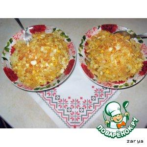 Рецепт: Макароны в луковом соусе