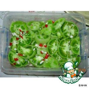 Рецепт: Помидоры зеленые закусочные