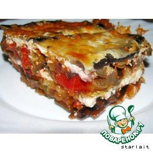 Рецепт: Запеканка из баклажанов с помидорами