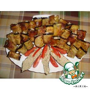 Рецепт: Баклажаны с орехами