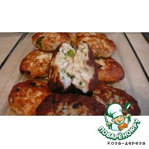 Рецепт: Куриные котлетки Летние с зеленью