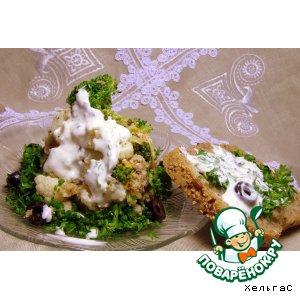 Рецепт: Cалат из цветной капусты и брокколи