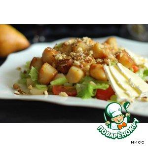 Рецепт: Тeплый салат из морского гребешка Купер