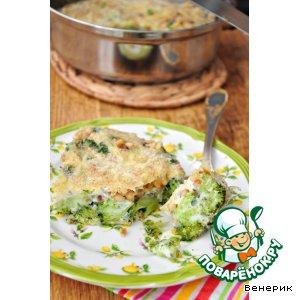 Рецепт: Запеканка из брокколи с кедровыми орешками и пармезаном