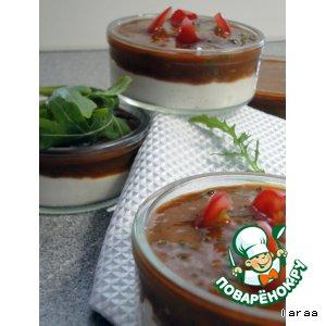 Рецепт: Сырный крем с томатным соусом