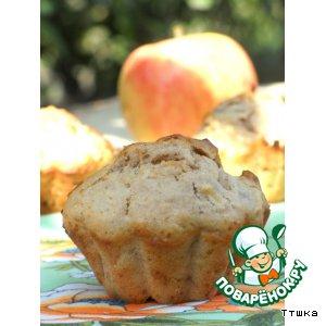Рецепт: Яблочные маффины с орехами