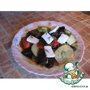 """Рецепт: Овощное ассорти с сыром """"Фетакса"""""""