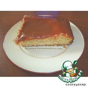 Рецепт Быстрый пирог с ирисковой заливкой